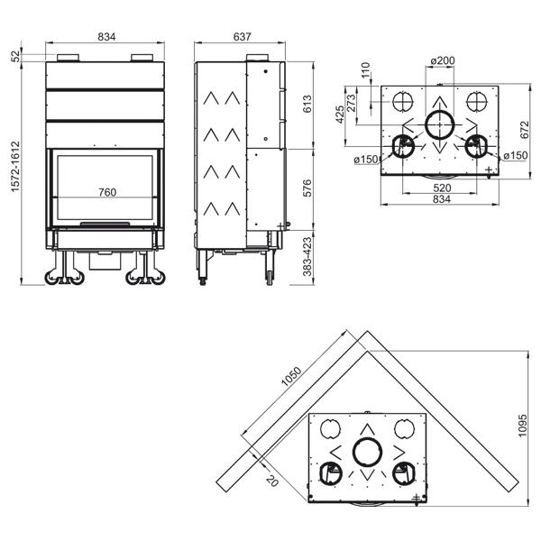 Monoblocco 750 Piano 13kW Ghisa