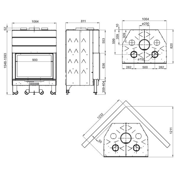 Monoblocco 900 Piano 15kW
