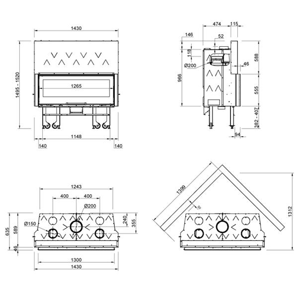 Monoblocco 1300 Piano Crystal 13kW