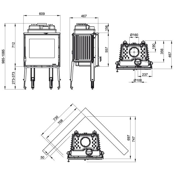 Focolare 60 Piano 9,4kW