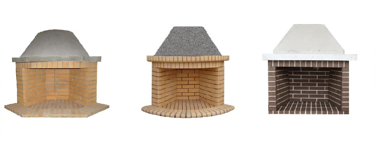 Traditional fireplaces with refractory bricks