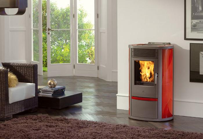 Edilkamin Lilia Plus Ceramic 8,3kW-Κόκκινη