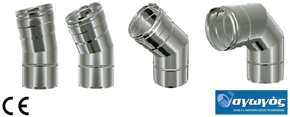Stainless steel chimney pipe curves pipes