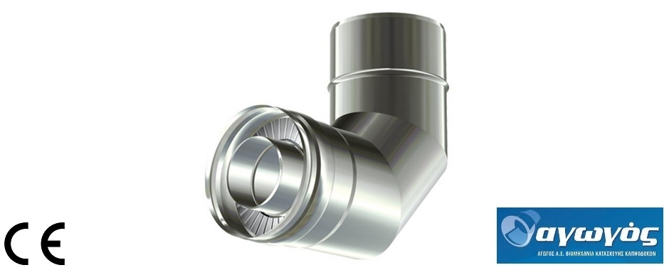 Double walled stainless steel chimney pipes with